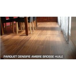 Parquet Compressé Bambou Ambre Huilé a clipser